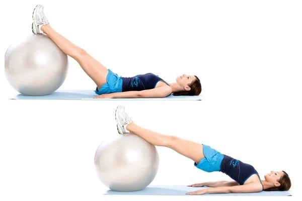Упражнения для похудения на гимнастическом мяче